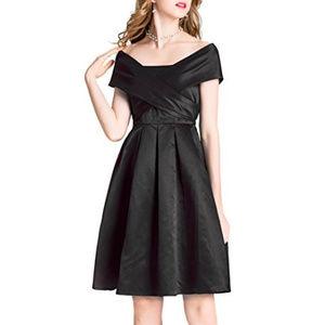 Black Dress Off Shoulder Party Formal Wear NEW